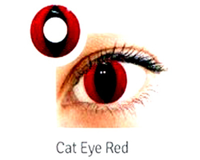 LENTI A CONTATTO COLORATE CAT EYE RED