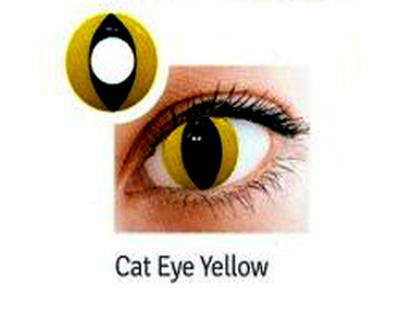 LENTI A CONTATTO COLORATE CAT EYE YELLOW