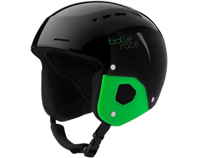 BOLLÉ QUICKSTER SHINY BLACK GREEN CASCO DA SCI JUNIOR