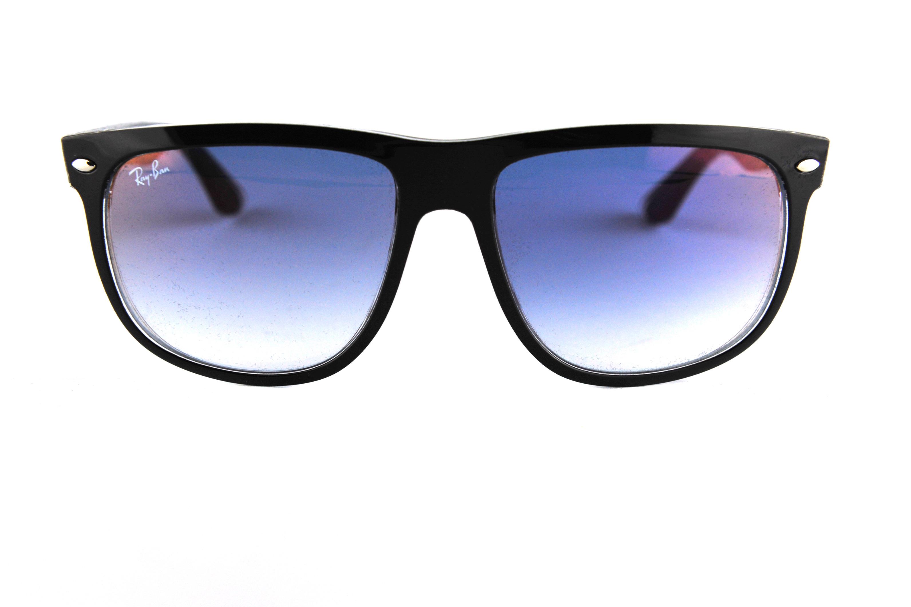nuovi stili 67664 66441 RAY BAN Occhiali da sole colore nero , squadrato, lente blu rb4147 ...