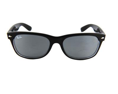 Occhiali da sole ray Ban colore nero, squadrato , lente blu rb2132 55