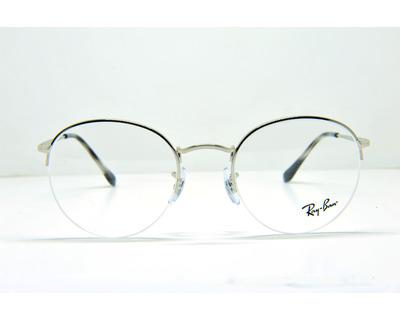 Occhiali da vista Ray ban colore argento , tondo rb3947v