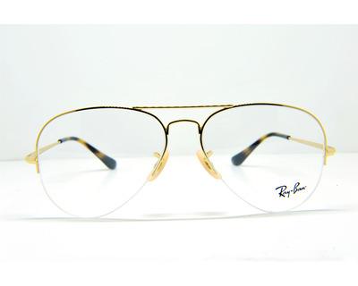 Occhiali da vista Ray Ban colore oro , a goccia , rb6589 56