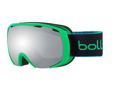 BOLLE' Maschera da sci Royal colore verde, lente nera specchiata 21595