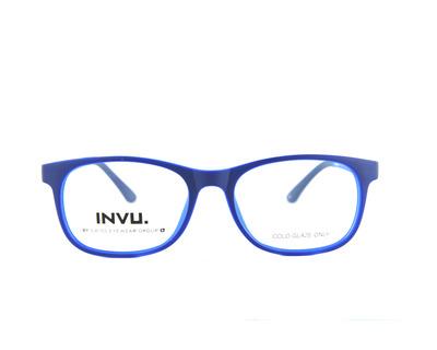 INVU Occhiali da vista Junior colore blu, squadrato k4904