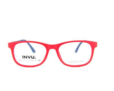 INVU Occhiali da vista Junior colore rosso, quadrato k4904
