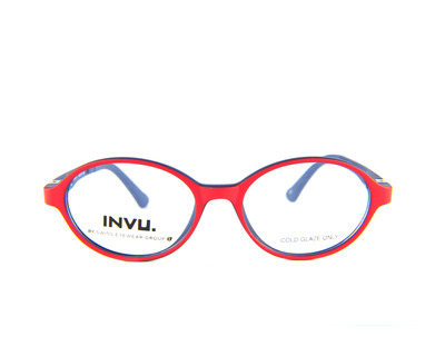INVU Occhiali da vista Junior colore rosso, tondo k4900