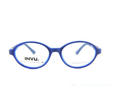 INVu Occhiali da vista Junior colore blu, tondo k4900