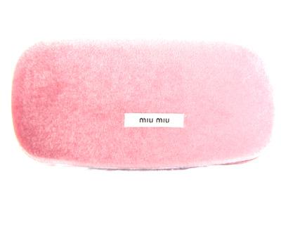 MIU MIU Astuccio sole rigido rosa