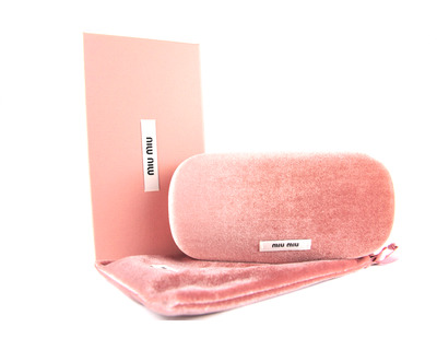 MIU MIU Packaging sole con astuccio rigido rosa