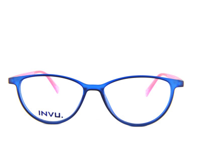 INVU Occhiali da vista Junior colore blu, tondo k4604