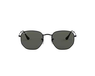 RAY BAN Occhiali da sole colore nero, esagonale, lente nera