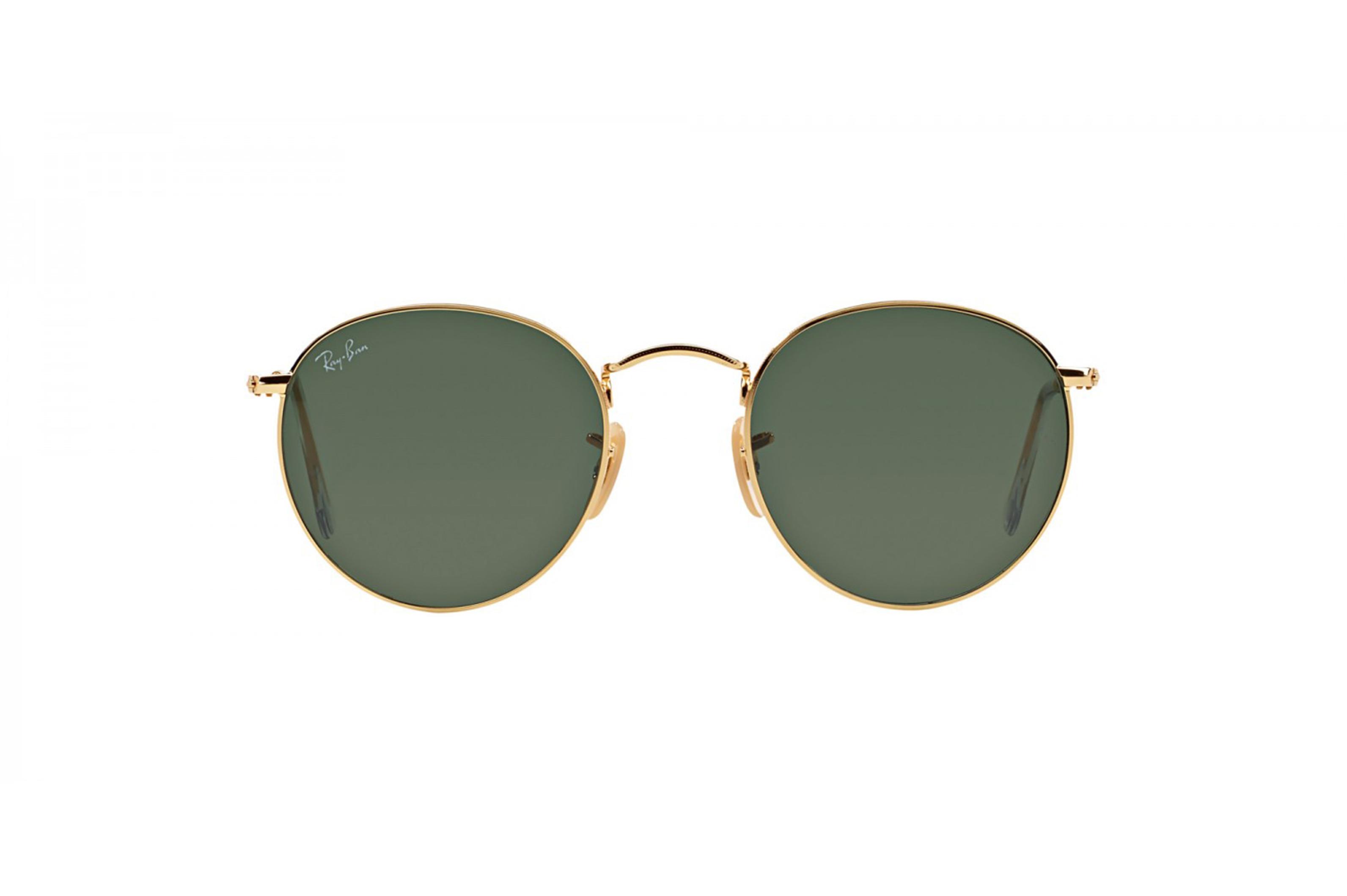 design senza tempo ab5ef 03904 RAY BAN Occhiali da sole colore oro, tondo, lente verde - Ottica ...