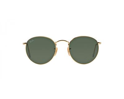 RAY BAN Occhiali da sole colore oro, tondo, lente verde