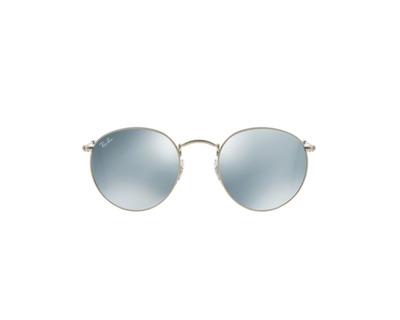 RAY BAN Occhiali da sole colore argento, tondo, lente grigio specchiato