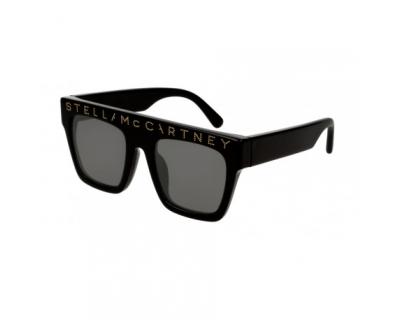 STELLA MCCARTNEY Occhiali da sole Teen colore nero, a mascherina, lente grigia