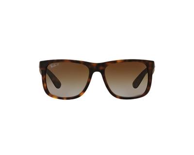 RAY BAN Occhiali da sole colore marrone maculato, squadrato, lente marrone sfumata