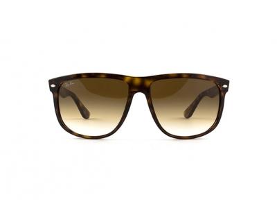 RAY BAN Occhiali da sole colore marrone maculato, a mascherina, lente marrone sfumata