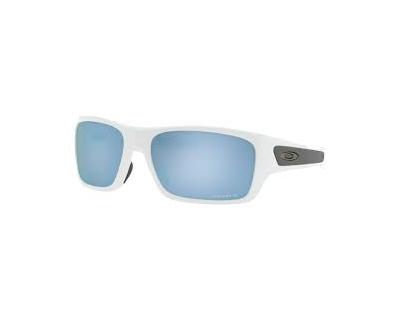 OAKLEY TURBINE XS Occhiali da sole colore bianco, squadrato, lente celeste specchio