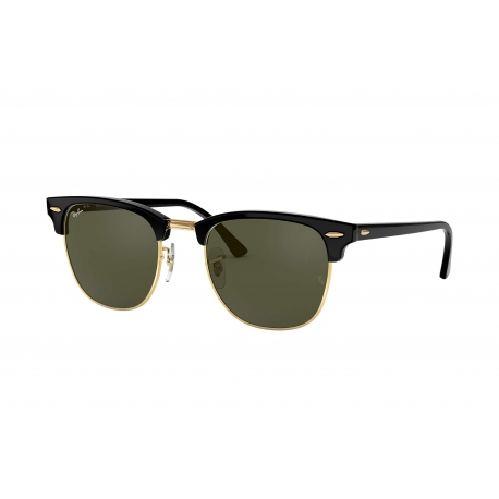 RAY BAN CLUBMASTER Occhiali da sole colore nero, quadrato, lente verde